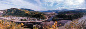 Dawson City and surrounding Alaskan landscape - Westmark Hotels