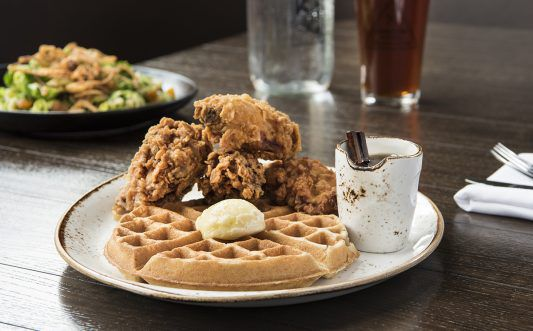 Dining - Chicken and waffles at Karstens at McKinley Chalet mc_15