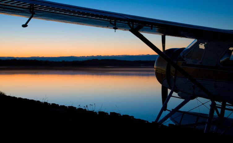 Floatplane Sunset