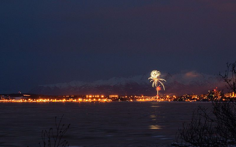 Fur Rondy Anchorage Fireworks