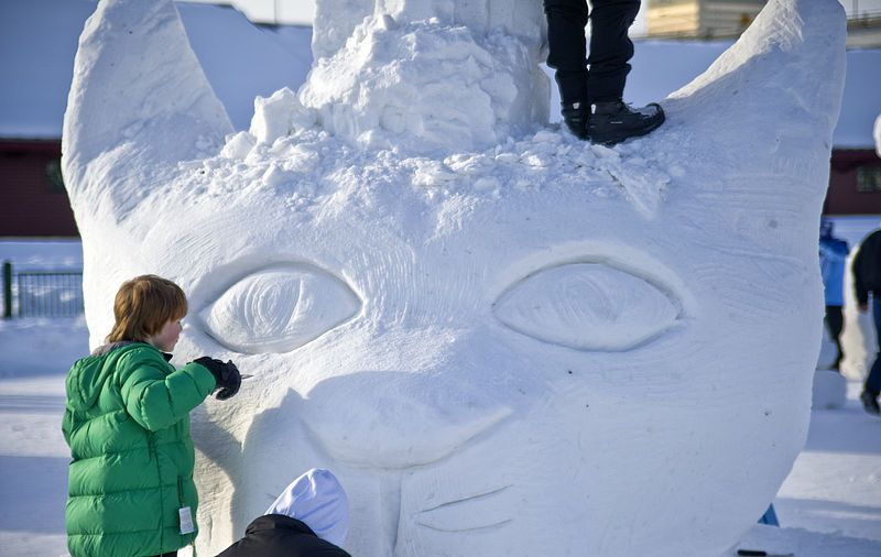 Fur Rondy Anchorage Snow sculpture