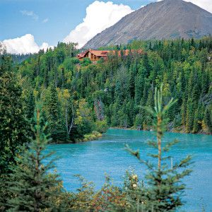 Kenai Princess Wilderness Lodge above the Kenai River