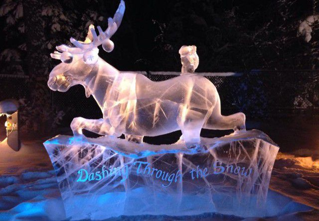 Ice Sculpture in North Pole, Alaska