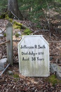 Tombstone of Soapy Smith in Gold Rush Cemetery. Skagway, Alaska
